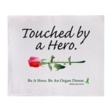 Touched by a Hero Throw Blanket
