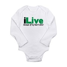 iLive Heart Long Sleeve Infant Bodysuit