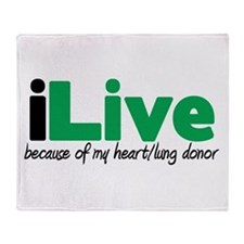 iLive Heart/Lung Throw Blanket