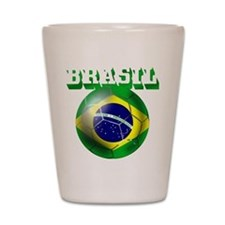 Brazil Brasil Football Shot Glass