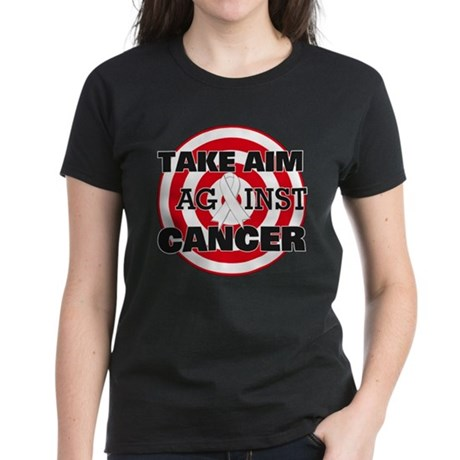 Take Aim - Lung Cancer Women's Dark T-Shirt