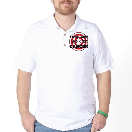 Take Aim - Lung Cancer Golf Shirt