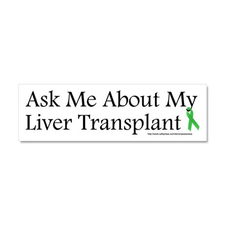 Ask Me Liver Car Magnet 10 x 3