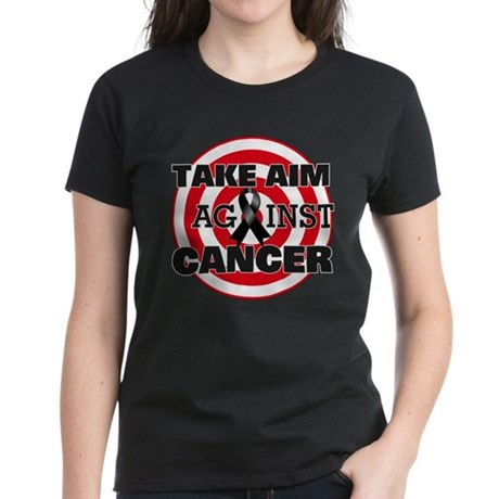 Take Aim Against Melanoma Women's Dark T-Shirt