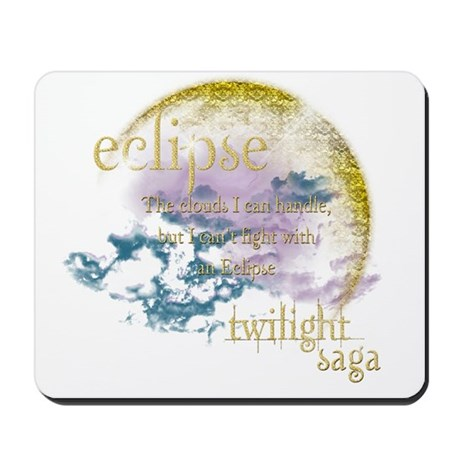 Jacob Quote Eclipse Clouds Mousepad