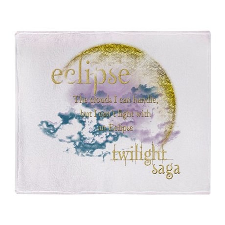Jacob Quote Eclipse Clouds Throw Blanket