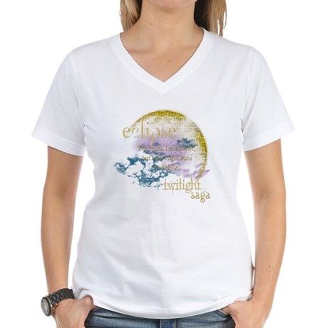 Jacob Quote Eclipse Clouds Women's V-Neck T-Shirt