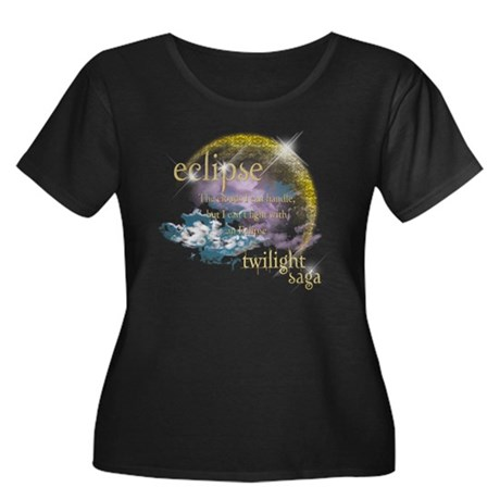 Jacob Quote Eclipse Clouds Women's Plus Size Scoop