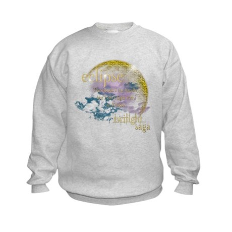 Jacob Quote Eclipse Clouds Kids Sweatshirt