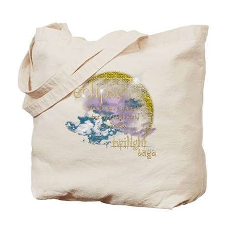Jacob Quote Eclipse Clouds Tote Bag