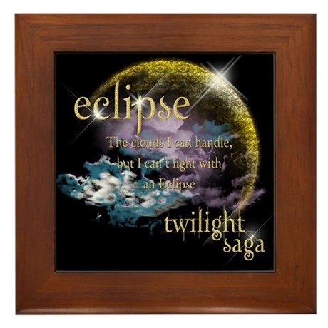 Jacob Quote Eclipse Clouds Framed Tile