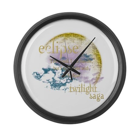 Jacob Quote Eclipse Clouds Large Wall Clock