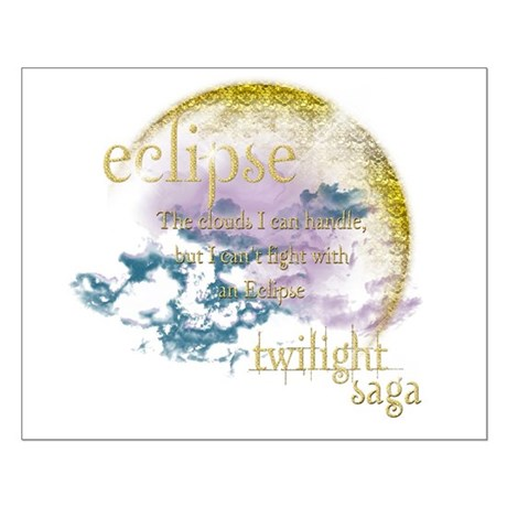 Jacob Quote Eclipse Clouds Small Poster