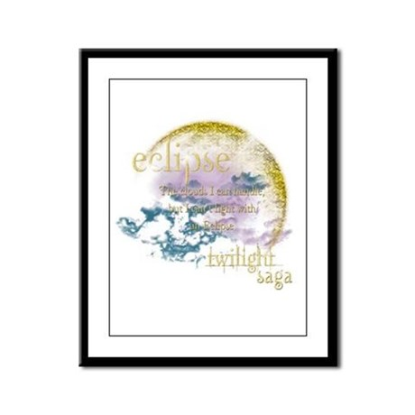 Jacob Quote Eclipse Clouds Framed Panel Print