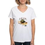 Jacob Quote Eclipse Clouds Women's V-Neck T-Shirt