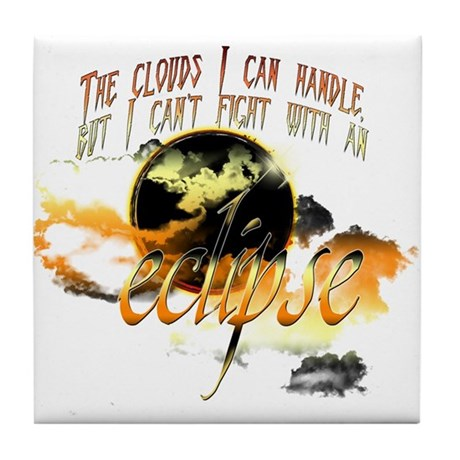 Jacob Quote Eclipse Clouds Tile Coaster