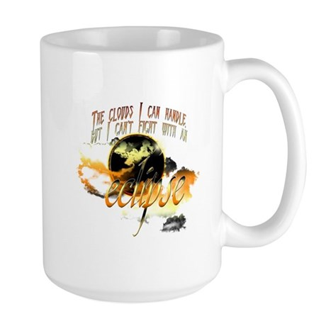 Jacob Quote Eclipse Clouds Large Mug
