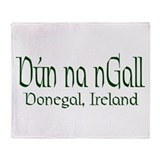 County Donegal (Gaelic) Throw Blanket