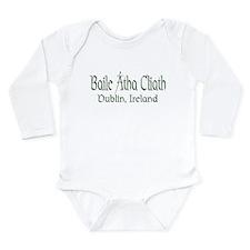 Dublin, Ireland (Gaelic) Long Sleeve Infant Bodysu