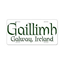 County Galway (Gaelic) Aluminum License Plate