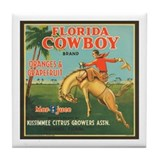 Florida Cowboy Tile Coaster