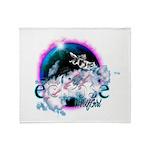 Twilight WolfGirl Throw Blanket