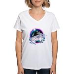 Twilight WolfGirl Women's V-Neck T-Shirt
