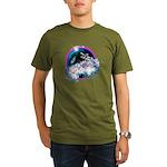 Twilight WolfGirl Organic Men's T-Shirt (dark)