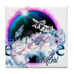 Twilight WolfGirl Tile Coaster