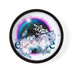 Twilight WolfGirl Wall Clock