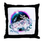Twilight WolfGirl Throw Pillow