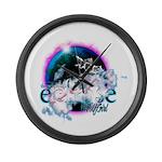 Twilight WolfGirl Large Wall Clock