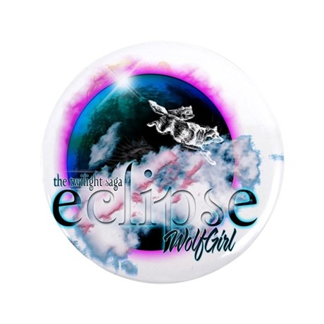 """Twilight WolfGirl 3.5"""" Button (100 pack)"""
