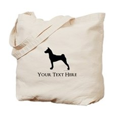Basenji - Your Text! Tote Bag