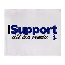 iSupport Child Abuse Throw Blanket