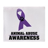 Animal Abuse Awareness Throw Blanket