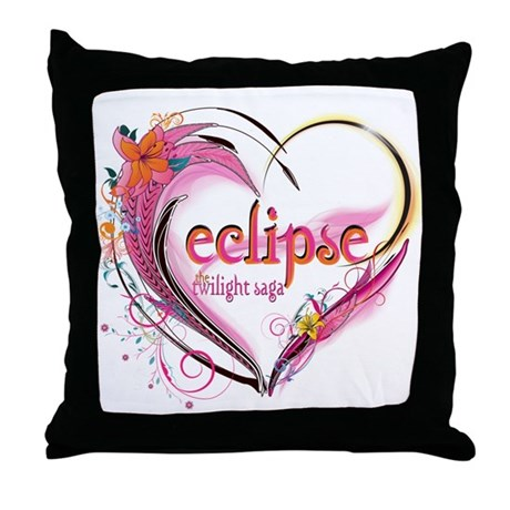 Eclipse Heart Throw Pillow