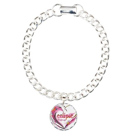 Eclipse Heart Charm Bracelet, One Charm