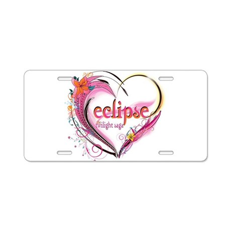 Eclipse Heart Aluminum License Plate