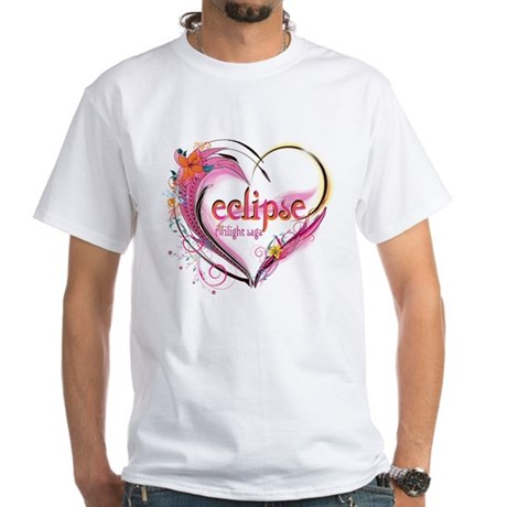 Eclipse Heart White T-Shirt