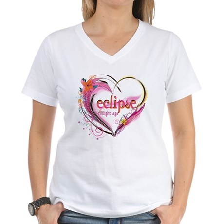 Eclipse Heart Women's V-Neck T-Shirt