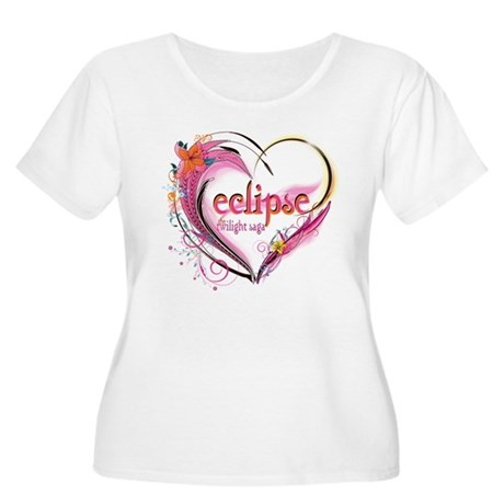Eclipse Heart Women's Plus Size Scoop Neck T-Shirt