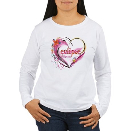 Eclipse Heart Women's Long Sleeve T-Shirt