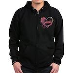 Eclipse Heart Zip Hoodie (dark)