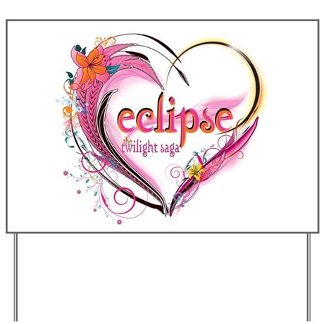 Eclipse Heart Yard Sign