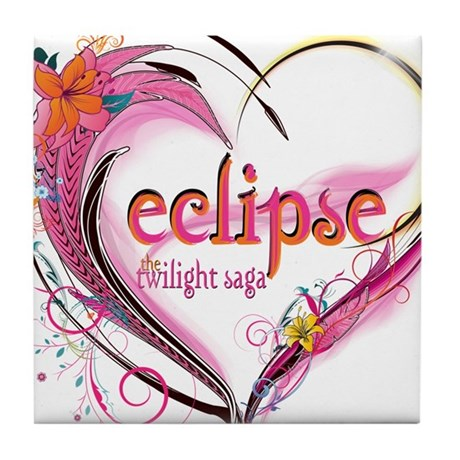Eclipse Heart Tile Coaster