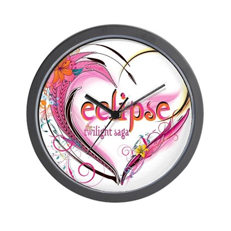 Eclipse Heart Wall Clock