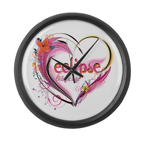 Eclipse Heart Large Wall Clock