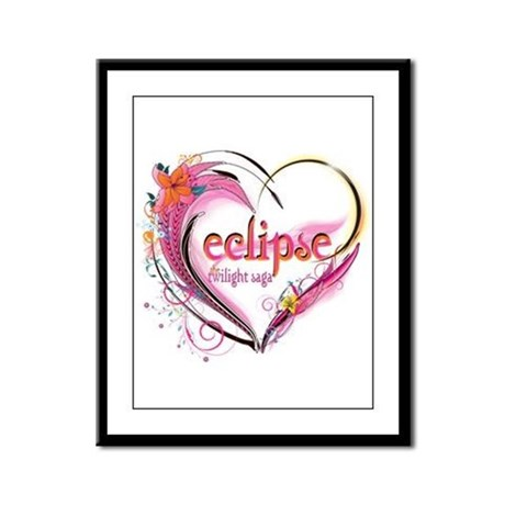 Eclipse Heart Framed Panel Print