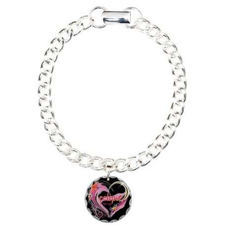 Twilight Eclipse Heart Charm Bracelet, One Charm